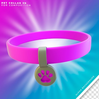 Pet collar 3d for puppys and cats