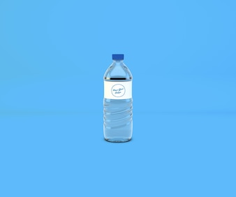 PET Drinking Water Bottle Mockup