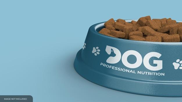 Мокап миски с едой для домашних животных