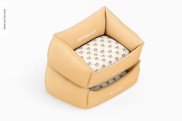 Макет сиденья подушки для домашних животных, изометрический вид