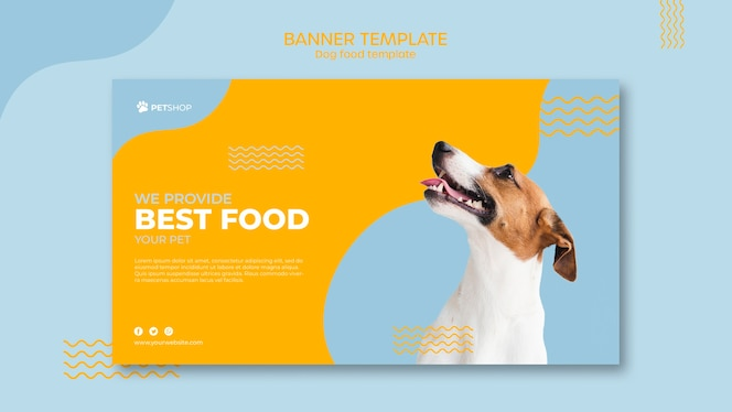 Pet shop banner template concept