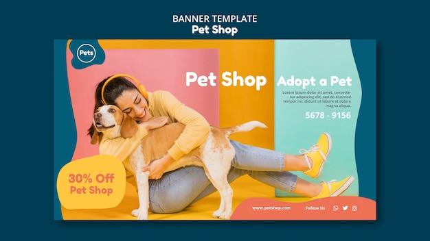 Modello di banner del negozio di animali
