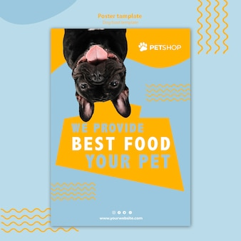 Pet shop flyer template concept