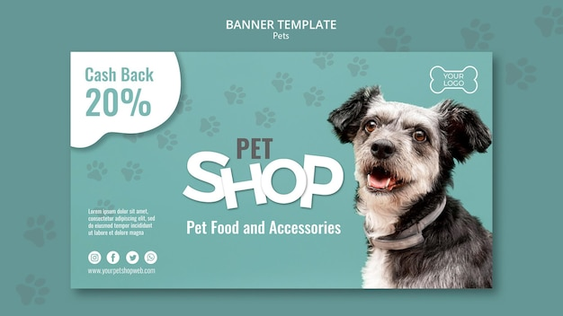 Pet shop horizontal banner