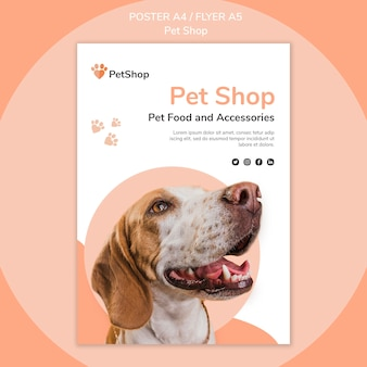 Pet shop poster template