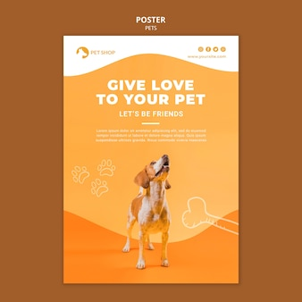 애완 동물 가게 포스터 템플릿