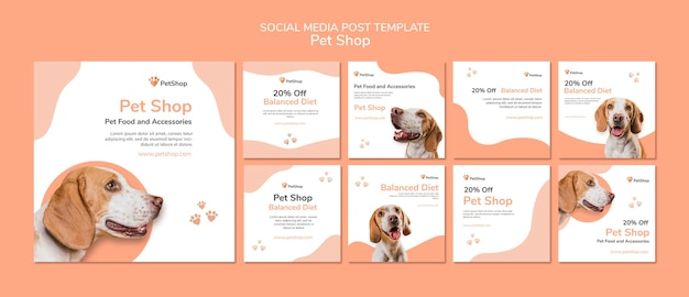 Pet shop social media post Premium Psd
