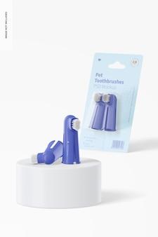 Mockup di spazzolini da denti per animali domestici 02