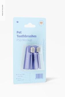Mockup di spazzolini da denti per animali domestici, vista a destra