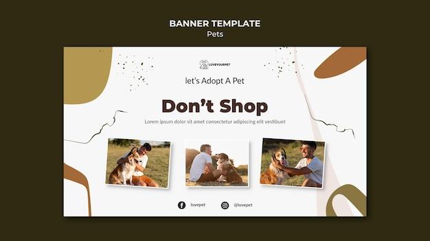 애완 동물 및 소유자 배너 서식 파일