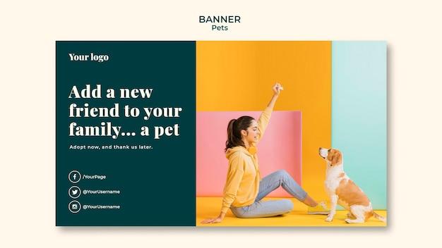 Шаблон баннера домашних животных