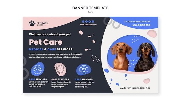 Modello di progettazione banner per la cura degli animali domestici