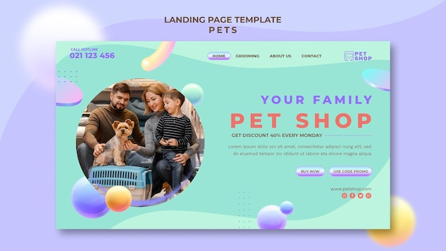 Pets homepage template