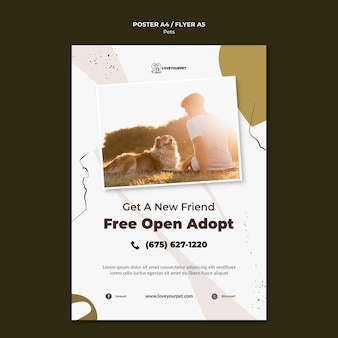 Pets and owners print template