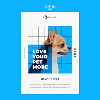 Pets print template with photo