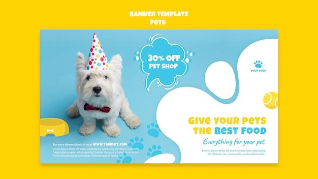 Modello di banner per negozio di animali domestici