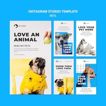 Modelli di storie di animali domestici con foto