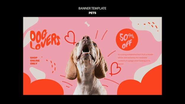 Modello di animali domestici del design del banner