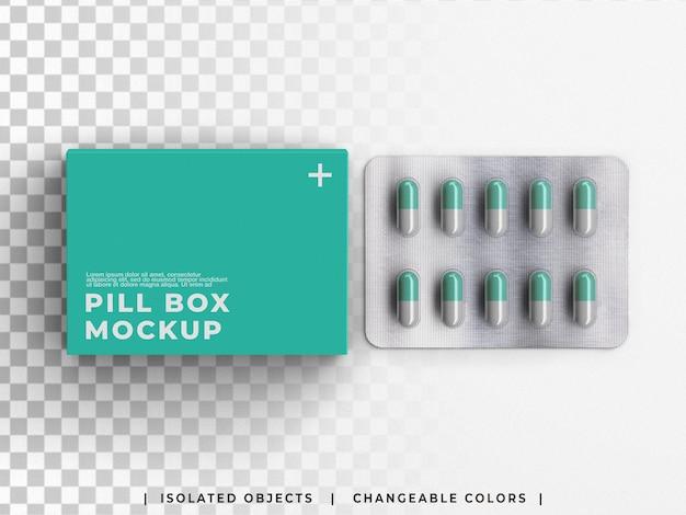 알약 캡슐 물집이 격리된 약국 모형 의료 상자 포장 약 용기