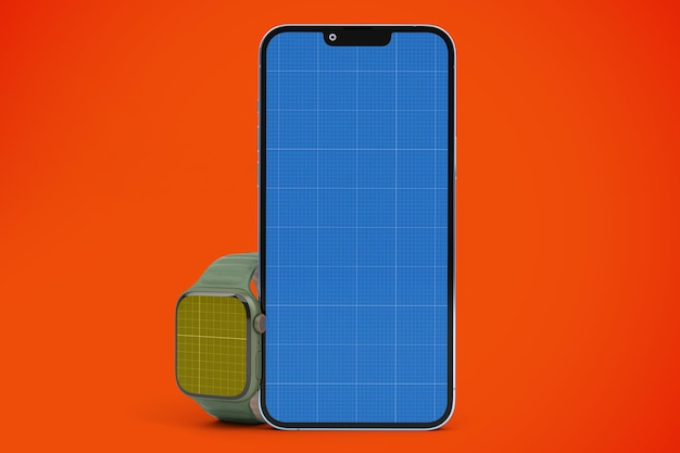 Phone 13 and smart watch