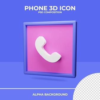 Телефон 3d рендеринга значок рендеринга