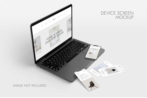 電話とノートブックの画面-デバイスのモックアップ