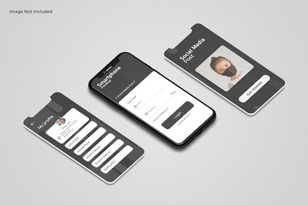 앱 프레젠테이션 모형을위한 전화 및 화면