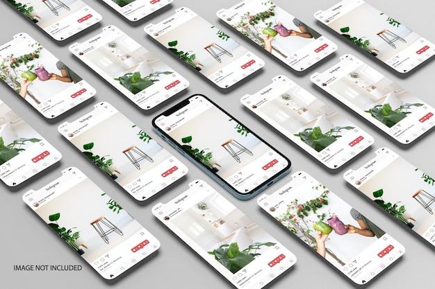 전화 및 화면 모형
