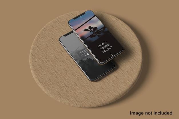 전화 및 화면 프레젠테이션 모형