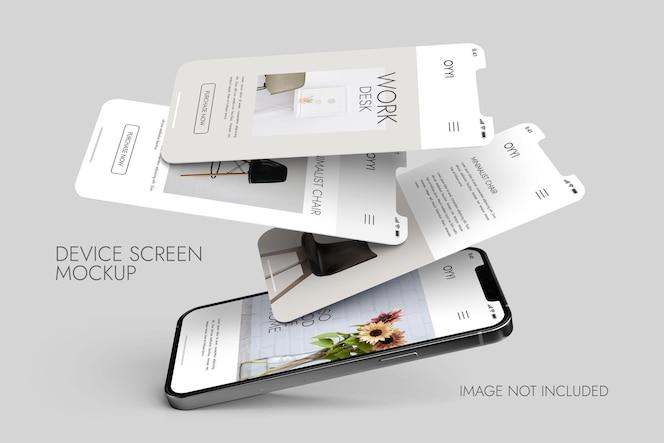 電話と画面-uiuxアプリプレゼンテーションのモックアップ