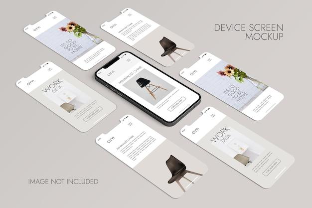 Телефон и экран - мокап презентации приложения ui ux