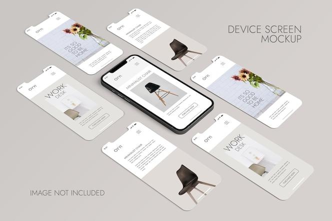 전화 및 화면-ui ux 앱 프레젠테이션 목업
