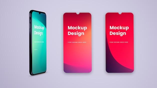 Телефон и экран - макет ui ux