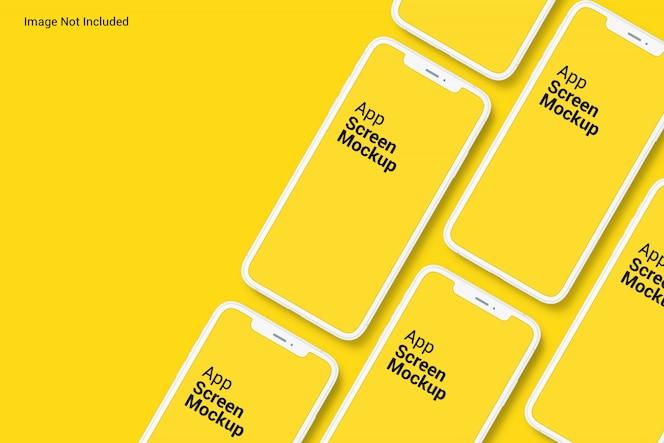 Phone app screen mockups