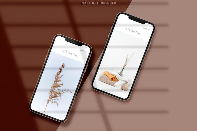 Phone for branding identity global business mockup