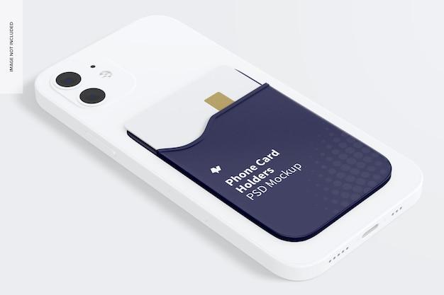 Мокап держателя телефонной карты