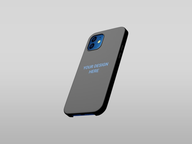 Phone case mockup isolated