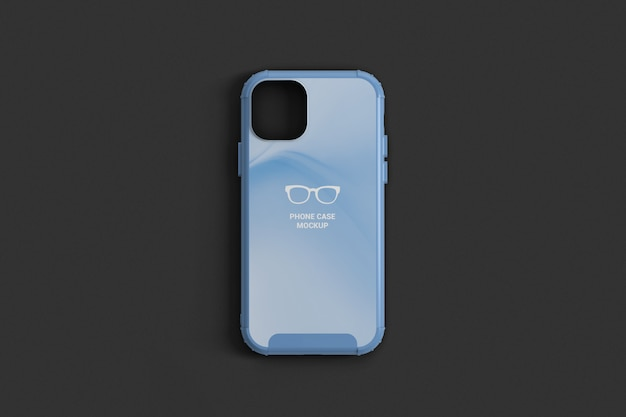 Phone case top view mockup