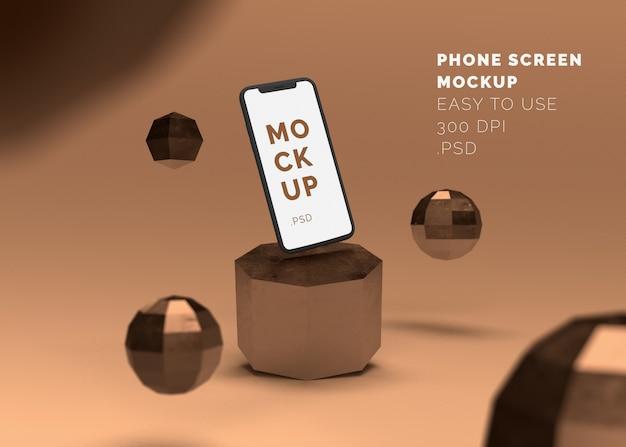Phone display mockup