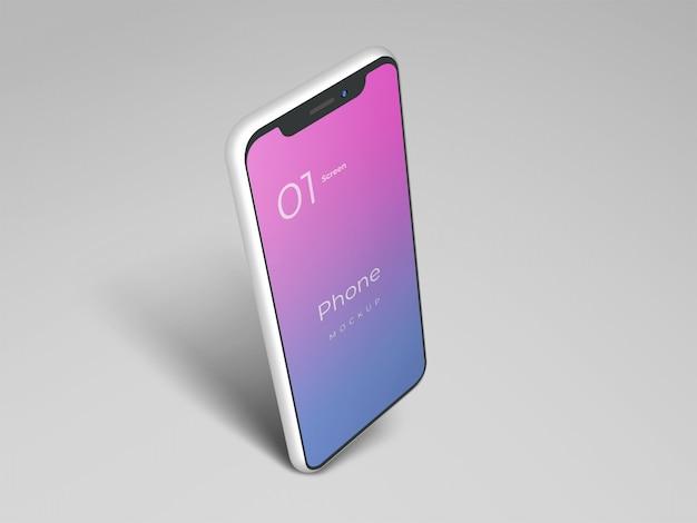 電話のモックアップデザイン