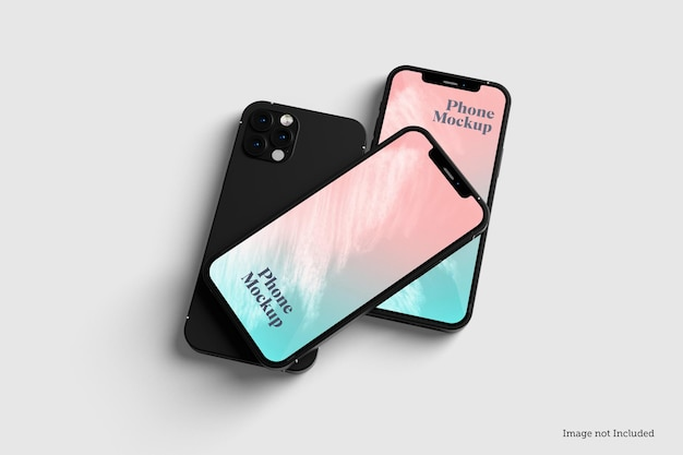 Phone mockup designs in 3d rendeirngs in 3d rendeirng
