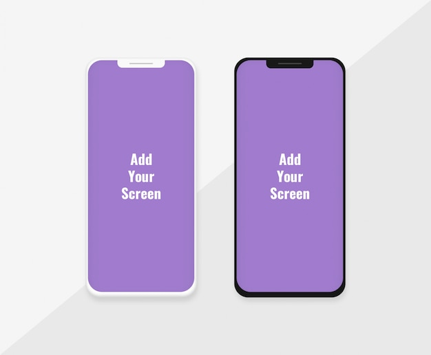 Phone mockup template with dark and light variation