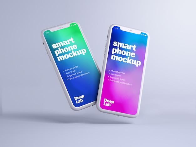 Phone mockup with editable wall