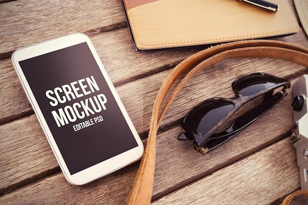 電話photoshopモックアップ