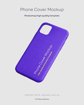 Phone rubber cover mockup