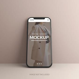 3d 렌더링의 전화 화면 모형 디자인