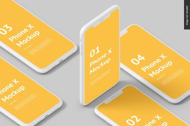 電話スクリーンのモックアップ Premium Psd