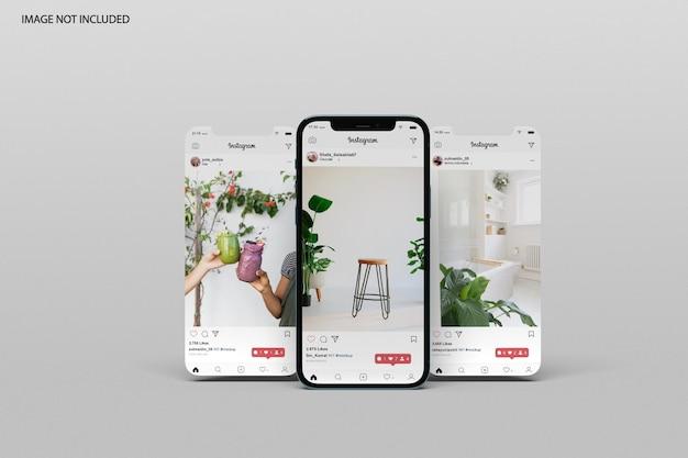 Phone and screen mockup