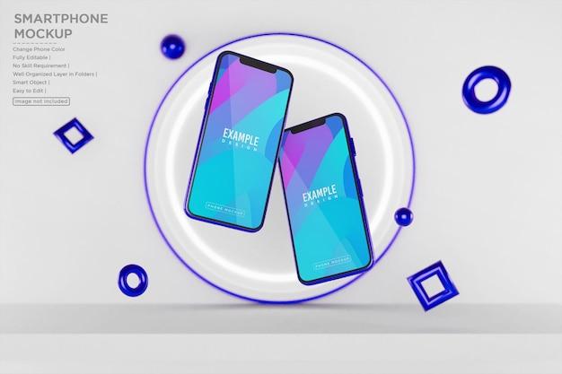 Phone and screen presentation mockup
