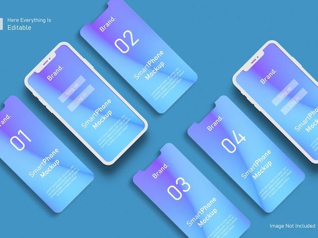 Phone and screen ui ux app presentation mockup